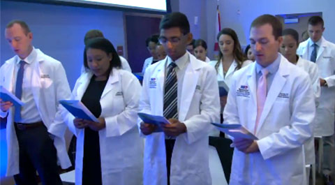 GME residents white coat ceremony