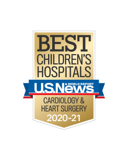 US News Pediatric Cardiology Heart Surgery 2020-2021 Badge