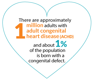 There are approximately 1 million adults with adult congenital heart disease.