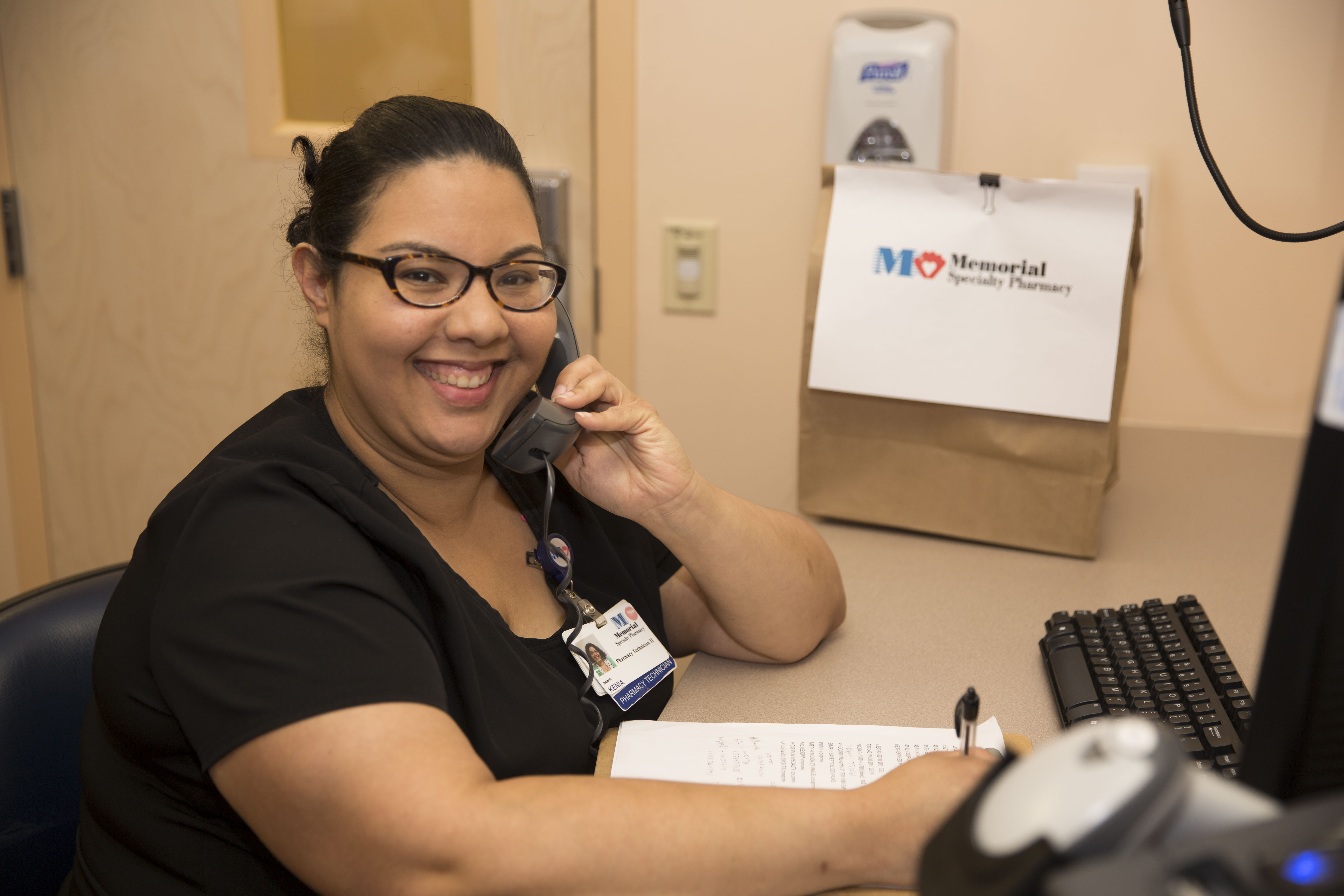 specialty pharmacy staff answering phone